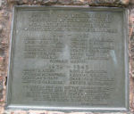 Memorial Tablet– Memorial Tablet on the Cenotaph at Richards Landing, Ontario on St. Joseph Island. Photo provided by Padre Phil Miller, RCL, Branch 25, Sault Ste. Marie, Ontario. We Will Remember Them.