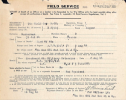 Field Service Form– Submitted for the project, Operation Picture Me
