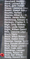 Memorial– Flight Sergeant Earl William Bock is also commemorated on the Bomber Command Memorial Wall in Nanton, AB … photo courtesy of Marg Liessens