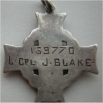 medal– This is a picture of his memorial cross (reverse)