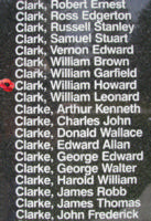 Memorial– Sergeant William Howard Clark is also commemorated on the Bomber Command Memorial Wall in Nanton, AB … photo courtesy of Marg Liessens