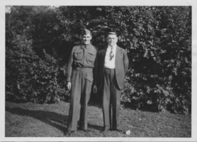 Photo of John and his father.– Submitted for the project, Operation Picture Me
