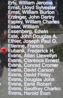 Memorial– Flight Sergeant Frederick Henry Eubank is also commemorated on the Bomber Command Memorial Wall in Nanton, AB … photo courtesy of Marg Liessens