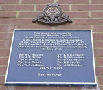 Plaque– Plaque commemorating the loss of eleven Canadian men on May 23rd, 1943, killed during the bombing of the Albany Hotel, Hastings.