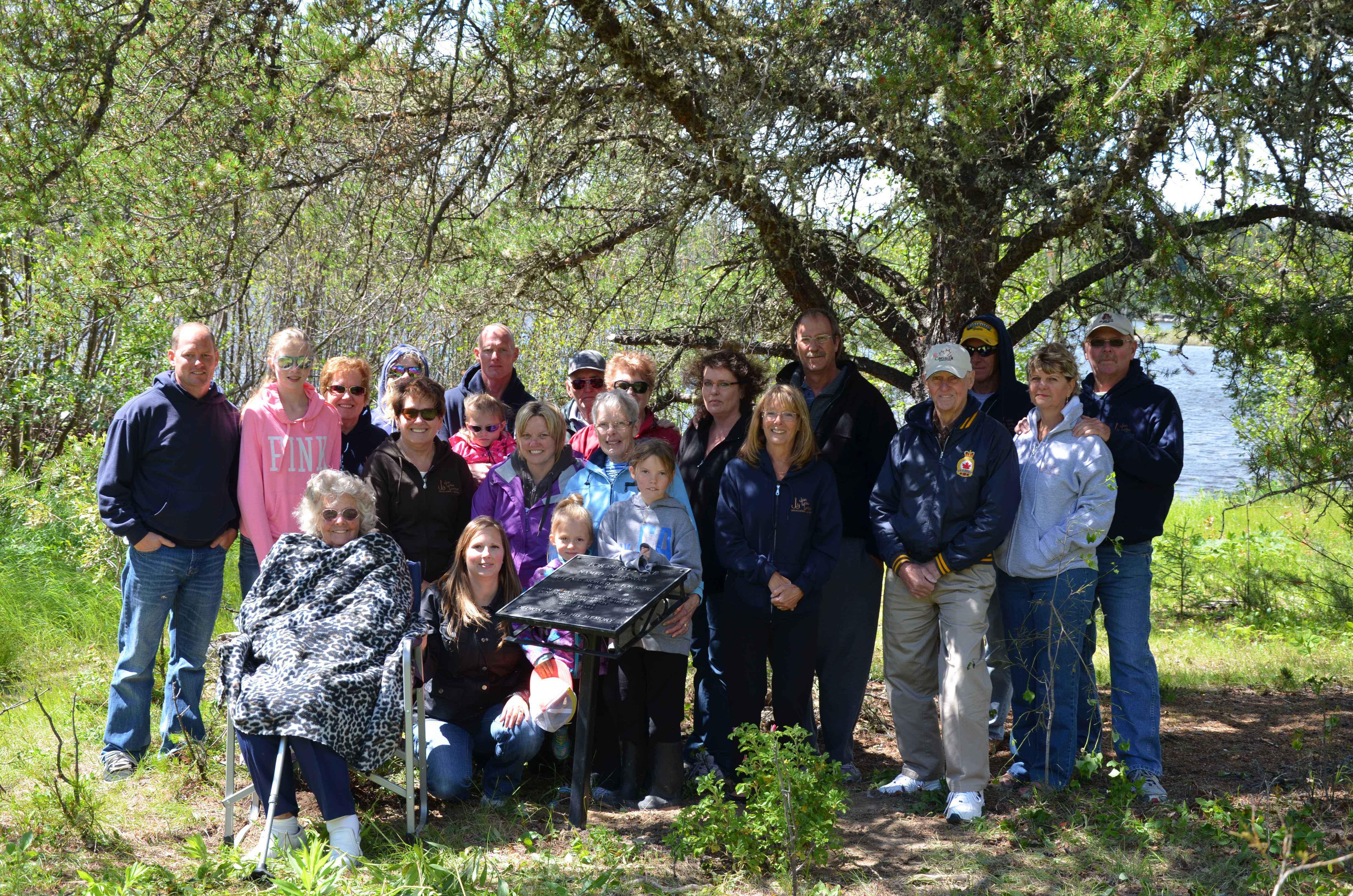 Forsberg Family Reunion– Family reunion at Forsberg Lake in memory of Norman Forsberg, brother to M.S. Forsberg. Summer of 2014