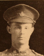 Photo of Frank Sydney Earl Bristow– In memory of the men and women from the Waterloo area who went to war and did not come home. From the booklet, Peace Souvenir – Activities of Waterloo County in the Great War 1914 – 1918. From the Toronto Public Library collection.  Submitted for the project, Operation: Picture Me.