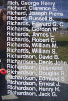 Memorial– Flight Sergeant Douglas Roy Richardson is also commemorated on the Bomber Command Memorial Wall in Nanton, AB … photo courtesy of Marg Liessens