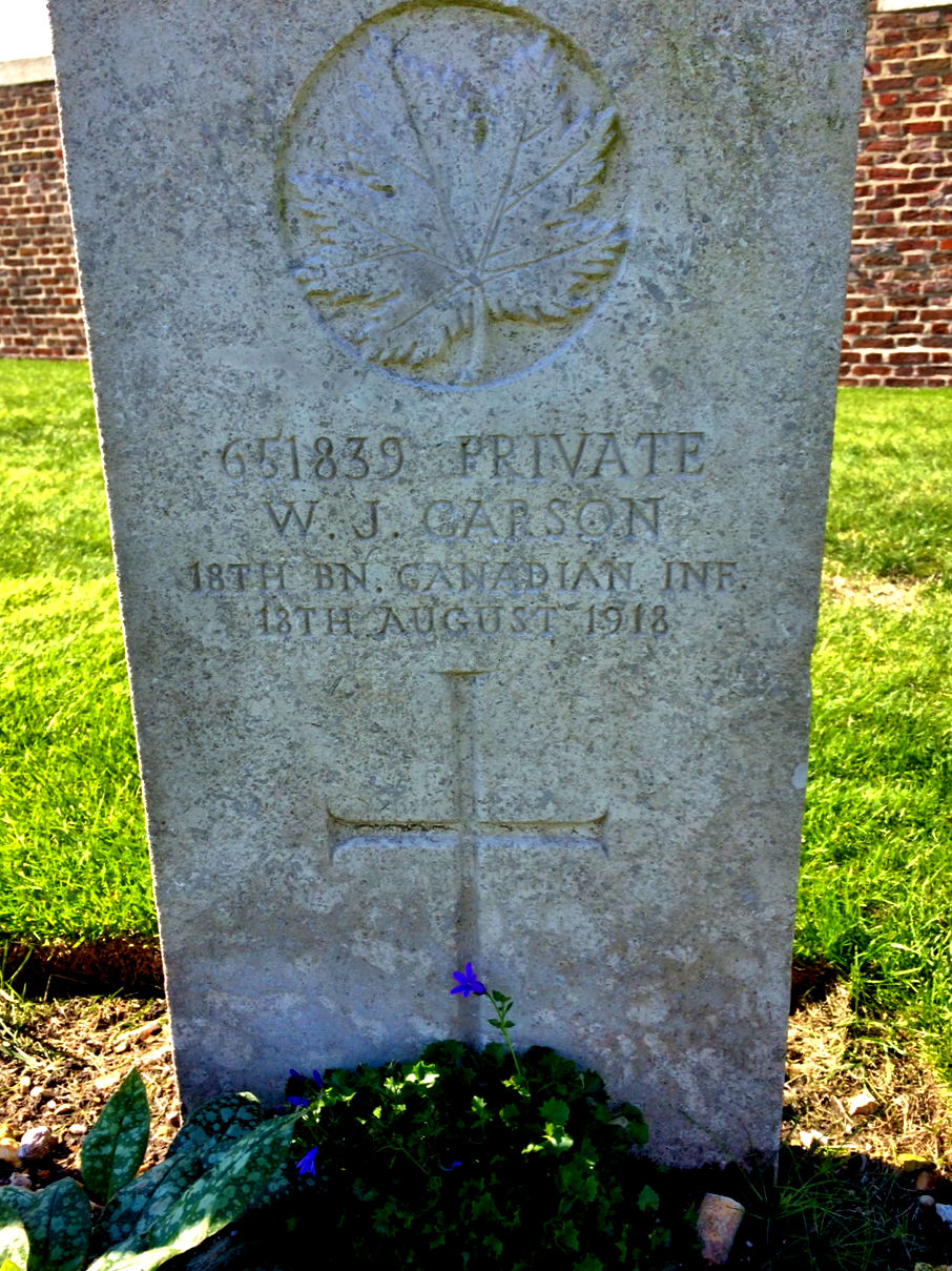 Grave marker– Photo provided by family member.