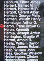 Memorial– Sergeant Frank Brown Graham Heron is also commemorated on the Bomber Command Memorial Wall in Nanton, AB … photo courtesy of Marg Liessens