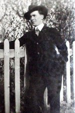 Photo of Cyril Wilson– Cyril Wilson in suit before joining the army. About 19 years old.