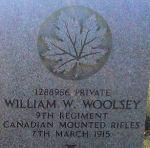 Grave Marker– Headstone of William Woolsey - taken @ Webb Cemetary, August 2010
