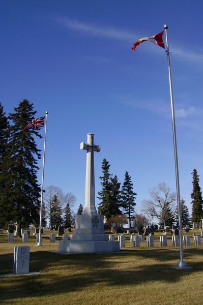 Memorial– Cross of Sacrifice ... Calgary Union Cemetery ... Photo courtesy of Marg Liessens