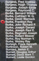 Memorial– Flight Sergeant Franklyn Roy Burke is also commemorated on the Bomber Command Memorial Wall in Nanton, AB … photo courtesy of Marg Liessens