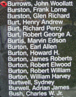 Memorial– Flying Officer John Woollatt Burrows is also commemorated on the Bomber Command Memorial Wall in Nanton, AB … photo courtesy of Marg Liessens