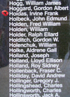 Memorial– Pilot Officer Irvin Frank Hoidas is also commemorated on the Bomber Command Memorial Wall in Nanton, AB … photo courtesy of Marg Liessens