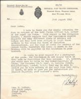 Letter– Letter from War Graves Commission to Elspeth Luther, widow of W.C. Luther.