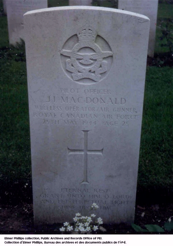 Grave marker for J.I. MacDonald