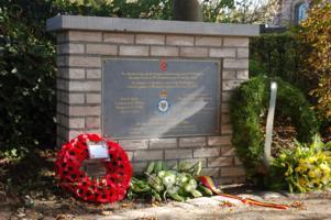 Memorial– Monument in Wintershoven-Kortessem (Belgium) for Edmund St. Aubin Richardson and the other crew members of Wellington BJ606 PH-S.