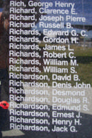 Memorial– Flight Sergeant Edmund St Aubin Richardson is also commemorated on the Bomber Command Memorial Wall in Nanton, AB … photo courtesy of Marg Liessens