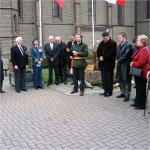 Ceremony– On November 11,2004 A ceremony was held for the unveiling of a plaque to the RCAF crew of a Halifax bomber aircraft which was shot down over Belgium on the night of 22 April 1944.