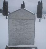 Mémorial – Monument Cimetière de pionniers, Oxford Centre, Norwich Township, comté d'Oxford