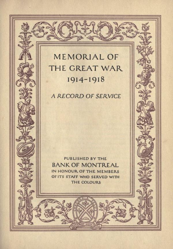 Bank of Montreal Memorial