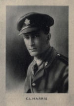 Photo of Claude Harris– Memorial from the Great War 1914-1918: a record of service published by the Bank of Montreal 1921.