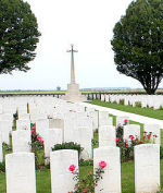 Arras Road Cemetery– The Arras Road Cemetery, located at Roclincourt, about 5 kilometres from Canada's Vimy Memorial in France. (John & Anne Stephens 2013)