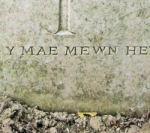 Epitaph– huno y mae mewn hedd - United in Peace (Welsh)