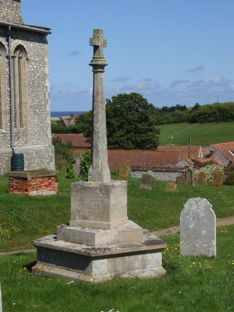 War Memorial– The War Memorial in Salthouse (St Nicholas) Churchyard, Norfolk