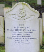 Grave Marker– This image of the grave stone of Gordon William Hall, was photographed by Tony Brooks on the 29th Nov 2012 at Earlham Cemetery Norwich Norfolk UK. Larger format availible.