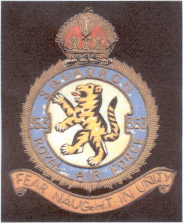 RAF Squadron # 353 Badge
