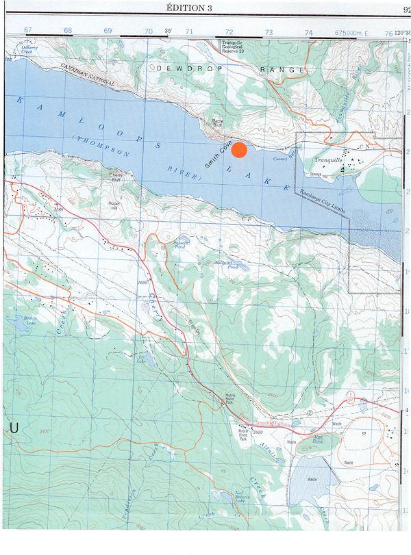 Location of Smith Cove
