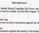 Description– Description of his medals.