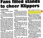 """Newspaper Clipping– Glen Cowley wrote this two part series for the Kamloops newspaper . It appeared starting in the """" Kamloops This Week """" on Wednesday June 07 , 1995 . Glen Cowley is a Kamloops based historian and free-lance writer . The 1938 Championship Team was reported in depth by the newspaper of the time - The Kamloops Sentinel and Harry Smith was widely reported in the articles covering the team in those late 1930 years."""