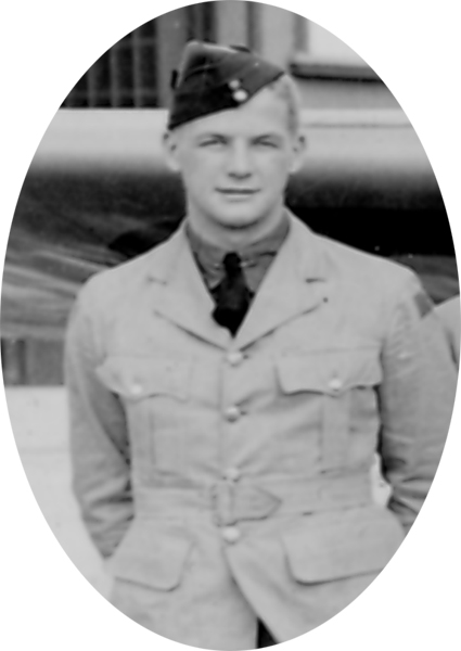 Photo of JAMES PHILIP SCOTT– Photo extracted from graduation photograph of !st Observer Course August 16th, 1940.  He and 21 other classmates out of a class of 39 were dead by 21 September 1944.