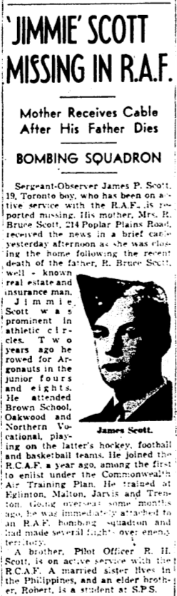 Newspaper clipping– Memorialized on the pages of the Globe and Mail. Submitted for the project, Operation Picture Me.
