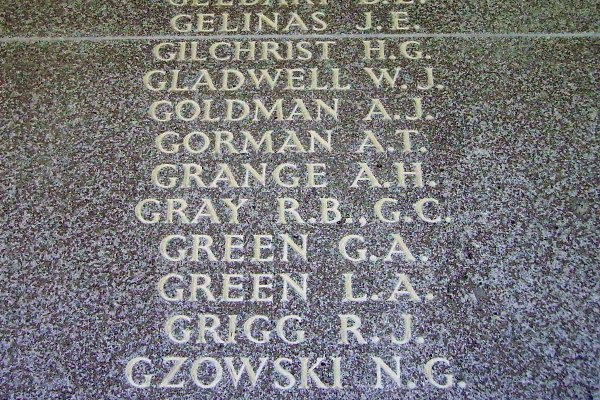 Inscription– F/O Gilchrist is also commemorated on the Runnymede Memorial ... Inscription - Runnymede Memorial - September 2010 … photo courtesy of Marg Liessens