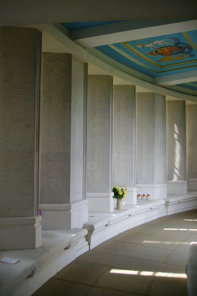 Memorial– F/O Gilchrist is also commemorated on the Runnymede Memorial ... Panels - Runnymede Memorial - September 2010 … photo courtesy of Marg Liessens