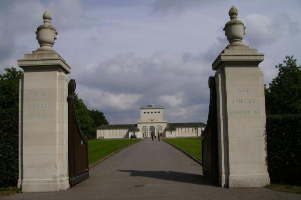 Memorial Entrance– F/O Gilchrist is also commemorated on the Runnymede Memorial ... Entrance - Runnymede Memorial - September 2010 … photo courtesy of Marg Liessens
