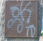 Memorial Plaque– Le Conquet city In memory of the RAF airmen killed for our liberty on this site on July 6th 1943.