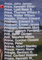Memorial– Sergeant Kenneth Ethen Price is also commemorated on the Bomber Command Memorial Wall in Nanton, AB … photo courtesy of Marg Liessens
