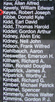 Memorial– Flying Officer Robert Joseph Keyes is also commemorated on the Bomber Command Memorial Wall in Nanton, AB … photo courtesy of Marg Liessens