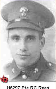 Photo of RALPH CHARLES REES– In memory of those who served in Hong Kong during World War 11 and did not come home. Submitted with permission on behalf of the Hong Kong Veterans Commemorative Association by Operation: Picture Me.
