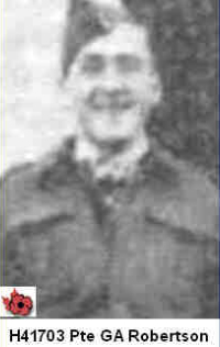 Photo of GILBERT ALLAN ROBERTSON– In memory of those who served in Hong Kong during World War 11 and did not come home. Submitted with permission on behalf of the Hong Kong Veterans Commemorative Association by Operation: Picture Me.