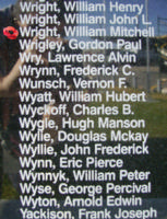 Memorial– Flight Sergeant William Mitchell Wright is also commemorated on the Bomber Command Memorial Wall in Nanton, AB … photo courtesy of Marg Liessens