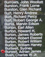 Memorial– Flight Sergeant Adrian James Burwell is also commemorated on the Bomber Command Memorial Wall in Nanton, AB … photo courtesy of Marg Liessens