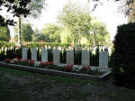 Grave markers– Aircrew grave markers Photo by Frans van Cappellen, Putten, The Netherlands(used with permission)