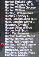 Memorial– Flight Sergeant Alfred Eugene Hurteau is also commemorated on the Bomber Command Memorial Wall in Nanton, AB … photo courtesy of Marg Liessens