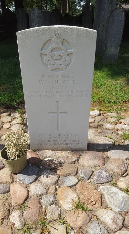 Grave marker– Grave marker from William Langenbeck Hunter at Diever general cemetery, The Netherlands.